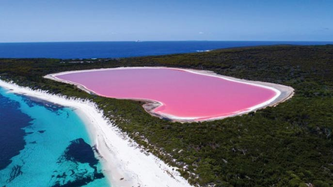 AUSTRALIA'S PINK LAKES, VARIOUS LOCATIONS